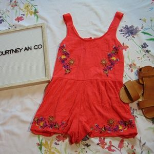*11 Xhilaration Embroidered Romper